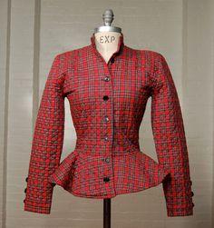 vintage Betsey Johnson peplum jacket.