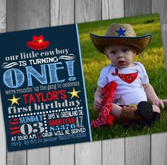 Hey, I found this really awesome Etsy listing at https://www.etsy.com/listing/195242991/cowboy-birthday-invitation-western