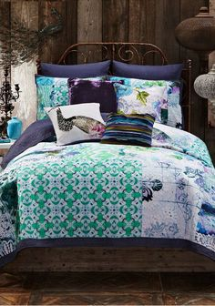 Blue Tracy Porter Ardienne King Quilt Set