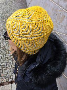 9ba0d9087b5e8 Ravelry  Solena pattern by Katrin Schubert Yellow Beanie