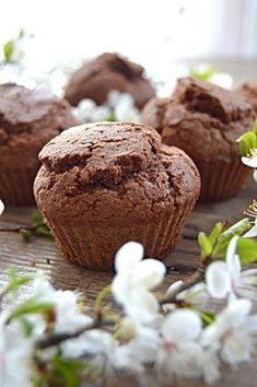 Pełnoziarniste babeczki czekoladowe z płatków owsianych Baby Food Recipes, Sweet Recipes, Cake Recipes, Dessert Recipes, Kinds Of Desserts, Gluten Free Muffins, Meal Prep Bowls, Chocolate Muffins, Healthy Sweets