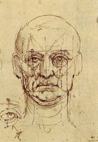 da Vinci, Proportions of Face and Eye