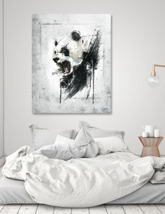 Discover «Angry Panda», Exclusive Edition Acrylic Glass Print by Emiliano  Morciano  - From 65€ - Curioos