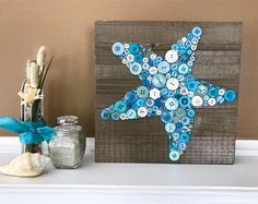 room decor Whether you have a beach house or a beach themed room in your home this button s. Whether you have a beach house or a beach themed room in your home this button starfish is the perfect unique addition to your beach decor! Beach Themed Crafts, Beach Crafts, Beach Themed Rooms, Beach Themed Decor, Summer Crafts, Beach Room Decor, Beach House Decor, Beach Theme Nursery, Bedroom Decor