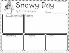 Use this with your early elementary grades to map the story Snowy Day after reading.  Students can draw pictures, label, and/or write sentences.    Thanks for downloading and follow me on Facebook for updates on freebies and sales! Facebook.com/justteachit