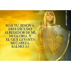 Mas Tu Jehova eres Escudo alrededor de mí,  Mi Gloria y El que levanta mi cabeza.  Salmo3:3 GUERRERAS DEL ALTISIMO