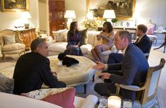 The real PRESIDENT of the United States - Obama & Michelle when they went to London, visited William & Kate, Harry