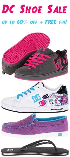 abe60bda24e9d DC Shoe Sale  up to 60% off + FREE Shipping! - check out these fun DC Shoes  for Women!  TheFrugalGirls