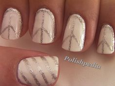 Polishpedia.com - This peace sign nail art turned out so cute.  It was originally inspired by an outfit that Lady Gaga was wearing.    Let us know what you think.