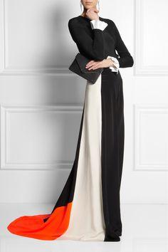 Roksanda Ilincic|Paneled silk-blend maxi skirt|NET-A-PORTER.COM