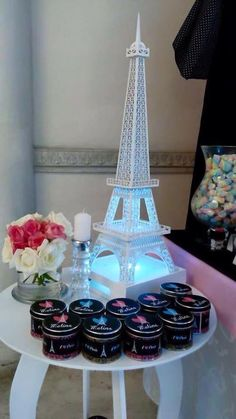 Eiffel Tower decor at a Paris birthday party! See more party ideas at… Paris Themed Birthday Party, 10th Birthday Parties, Birthday Party Themes, Girl Birthday, Paris Themed Cakes, Birthday Ideas, Birthday Cake, Paris Baby Shower, Parisian Party