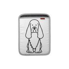 Sussex Spaniel Dog Cartoon Sleeve For iPads