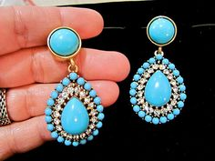 Vintage Kenneth Jay Lane KJL Turquoise Cabochons by Irefuse2growup