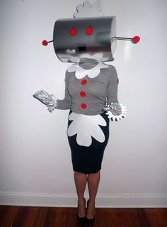 Bring the Jetsons' motherly character, Rosie the Robot, to life with this costume.