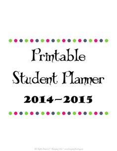 Printable Student Planner for Homeschool, Private School, or Public School by DesigningLife, $19.99