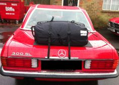 Die Alternative zu einem Gepäckträger für lhren Mercedes Benz SL.Hinzufügen von Wasserdicht 50 Liter Gepäckraum