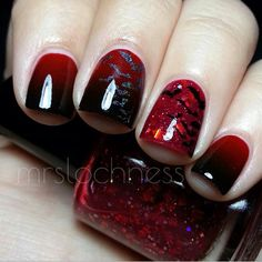 Red & Black gradient swatch by mrslochness