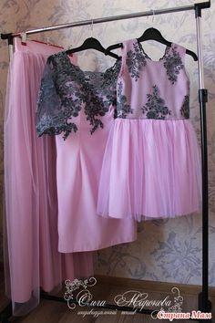 """Всем приветик!  Стиль Family look на сегодня очень модное направление в одежде.  Сегодня я хочу показать вам платья для мамы и дочки """"Романтика"""""""