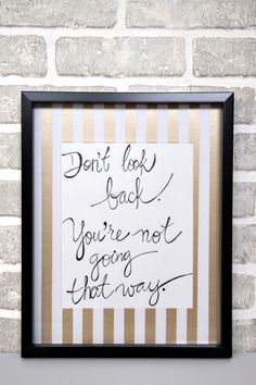 DIY Washi Tape Frame Mats to add life to those inspirational quotes on the wall