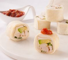 Thrifty Foods - Recipe - Barbecue Chicken Avocado Tortilla Rolls
