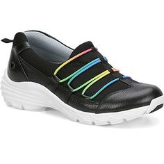 Get the flexibility of laces without the hassle thanks to the Align by Nurse Mates Women's Dash Shoe. Elastic insets allow you to slip-on this athletic style and enjoy proper alignment with every step. Work Sneakers, Ankle Sneakers, Converse Sneakers, Slip On Sneakers, Leather Sneakers, Sneakers Fashion, Men Sneakers, Nurse Mates Shoes, Plimsolls