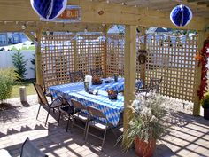 Oktoberfest Decorated Patio on The Shed blog