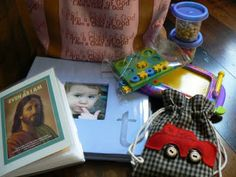 Church Bag Activities, lots of good ideas for 5 weeks of keeping kids busy