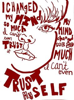 Modest Mouse lyrics Art Print- I want a musical tattoo