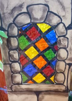 **Just the picture - could make fake stained glass with colored tissue or contruction paper and black masking tape. Castle Theme Classroom, Classroom Themes, Castle Backdrop, Castle Window, Fall Carnival, Medieval Party, Vbs Themes, Vacation Bible School, Camping Crafts