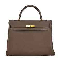 2014 Hermes Kelly Bag 35cm Coffee color Gold Hardware. | From a collection of rare vintage handbags and purses at https://www.1stdibs.com/fashion/accessories/handbags-purses/
