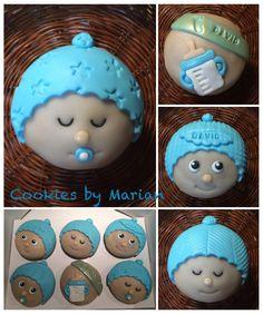Cupcakes de chocolate y mango para los papis de David.