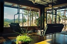 Ski lifts for the home... Image via Colorado Ski Chair Company