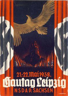 Postcard. Gautag Leipzig. May 1938. NSDAP Sachen