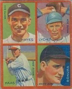 1935 Goudey 4-in-1 (R321) #13 Jackie Hayes /  Ted Lyons /  Mule Haas /  Zeke Bonura Front