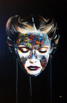Super Hero Canvas by Sandra Chevrier