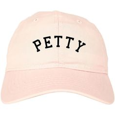 Petty Dad Hat by Fashionisgreat Pink Khaki White Black ($20) ❤ liked on Polyvore…