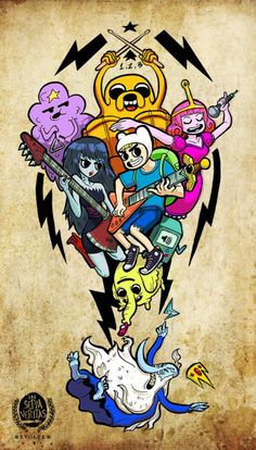 Adventure Time characters if they were in Scott Pilgrim.