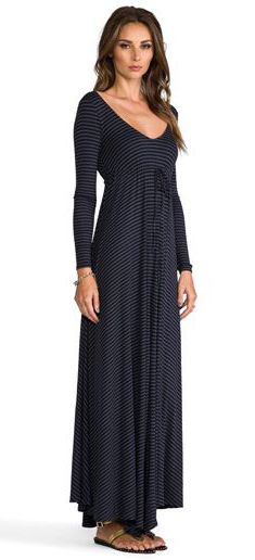 RACHEL PALLY Rib Pat Dress in Meteor Stripe - super cute, just needs a camisole or something so it's not so low-cut