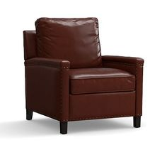 Tyler Leather Armchair #potterybarn