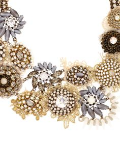 Sveva White Anemone Crystal Necklace | Jewellery by Sveva | Liberty.co.uk