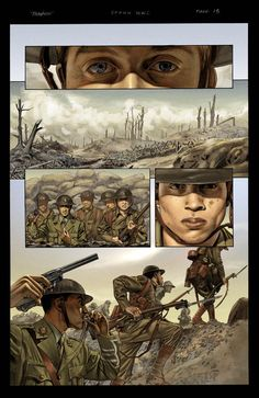 Spawn 179 page 13 color by mikemayhew on DeviantArt Military Art, Military History, Comic Books Art, Comic Art, Ww1 Art, Sainte Therese, Military Drawings, Comic Layout, Graphic Novel Art
