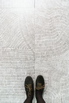 Fossil porcelain tile collection | Kasia Zareba