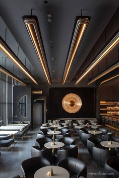 This modern restaurant with a futuristic style is a mix of creativity and luxury. - This modern restaurant with a futuristic style is a mix of creativity and luxury. Interior Design Minimalist, Bar Interior Design, Restaurant Interior Design, Top Interior Designers, Design Hotel, Cafe Design, Bathroom Interior Design, Interior Decorating, Design Design