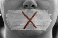 This photo represents how Miranda feels silenced by Clegg and the way he is treating her.