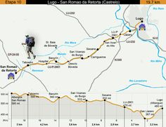 Day Ten Map of our Camino Primitivo from Eroski Consumer.