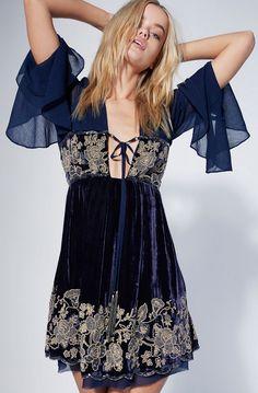 Midnight velvet dress