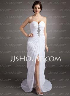 Evening Dresses - $145.29 - Sheath Sweetheart Sweep Train Chiffon Evening Dress With Ruffle Beading (017016335) http://jjshouse.com/Sheath-Sweetheart-Sweep-Train-Chiffon-Evening-Dress-With-Ruffle-Beading-017016335-g16335