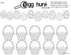 Egg Hunt- Addition and Subtraction - Miss Kindergarten Love - TeachersPayTeachers.com