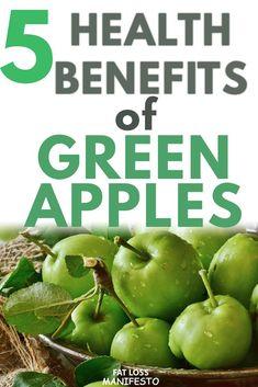 5 Health benefits of Green Apples - Fat Loss Manifesto - Superfood Challenge - gesundheitsfördernd Green Apple Benefits, Apple Health Benefits, Fruit Benefits, Health And Fitness Articles, Health And Wellness, Health Tips, Health Fitness, Natural Health Remedies, Healthy Living Tips