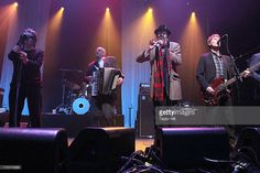 Shane MacGowan, James Fearnley, Spider Stacy, and Darryl Hunt of The Pogues perform at Terminal 5 on March 2011 in New York City. The Pogues, Rock Music, New York City, Celtic, Spider, Bands, March, Stock Photos, Concert